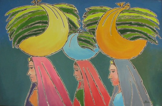 Sachdev Mann Untitled 1 Oil on Canvas