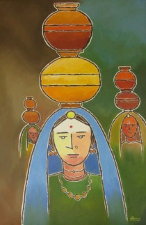 Sachdev Mann Untitled 3 Oil on Canvas