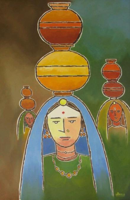 Sachdev Mann Untitled 3 Oil on Canvas