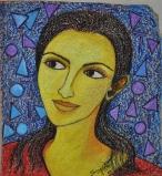 Sangeeta K Murthy Dreams 1 Mixmedia on Canvas 13 X 12 Inches