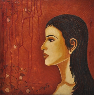 Sangeeta K Murthy Dreams 2 Oil on Canvas 18 x 18 Inches