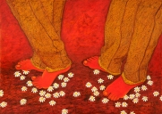 Sangeeta K Murthy Rythm of Life VIII Oil on Canvas 30 x 42 Inches