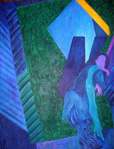Sangeeta K Murthy Sanguinity Oil on Canvas 40 x 50 Inches