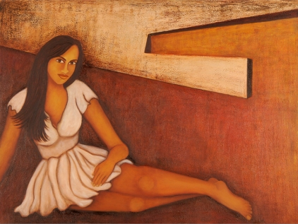 Sangeeta K Murthy Verve 4 Oil on Canvas 36 x 48 Inches