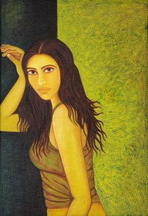 Sangeeta K Murthy Verve II Oil on Canvas 26 in x 40 in