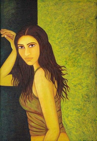 Sangeeta K Murthy Verve II Oil on Canvas 26 in x 40 in