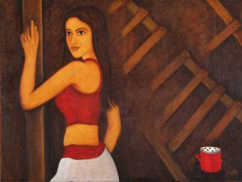 Sangeeta K Murthy Verve VII Oil on Canvas 36 x 48 Inches