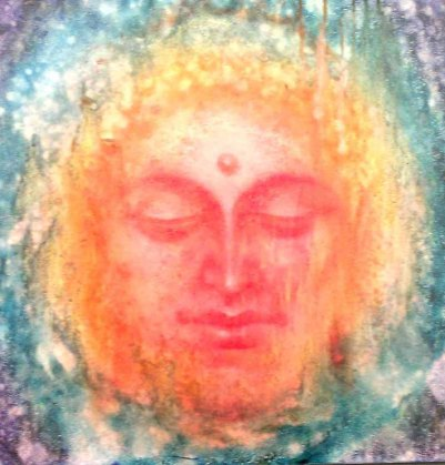 Sudha R Sama Buddha Oil on Canvas 18 x 18 Inches