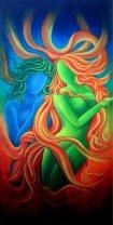 Sudha R Sama Coexistence Acrylic on Canvas 24 x 48 Inches
