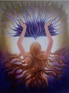 Sudha R Sama Door 2 Salvation Acrylic on Canvas 36 x 48 Inches Sold