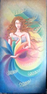 Sudha R Sama Enlightenment 24 x 48 Inches 45K