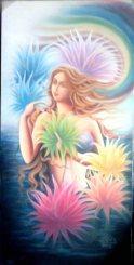 Sudha R Sama Salvation 24x48 inch. -oil on canvas 45000