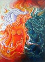 Sudha R Sama Virtuous Three Acrylic on Canvas 30 x 40 Inches