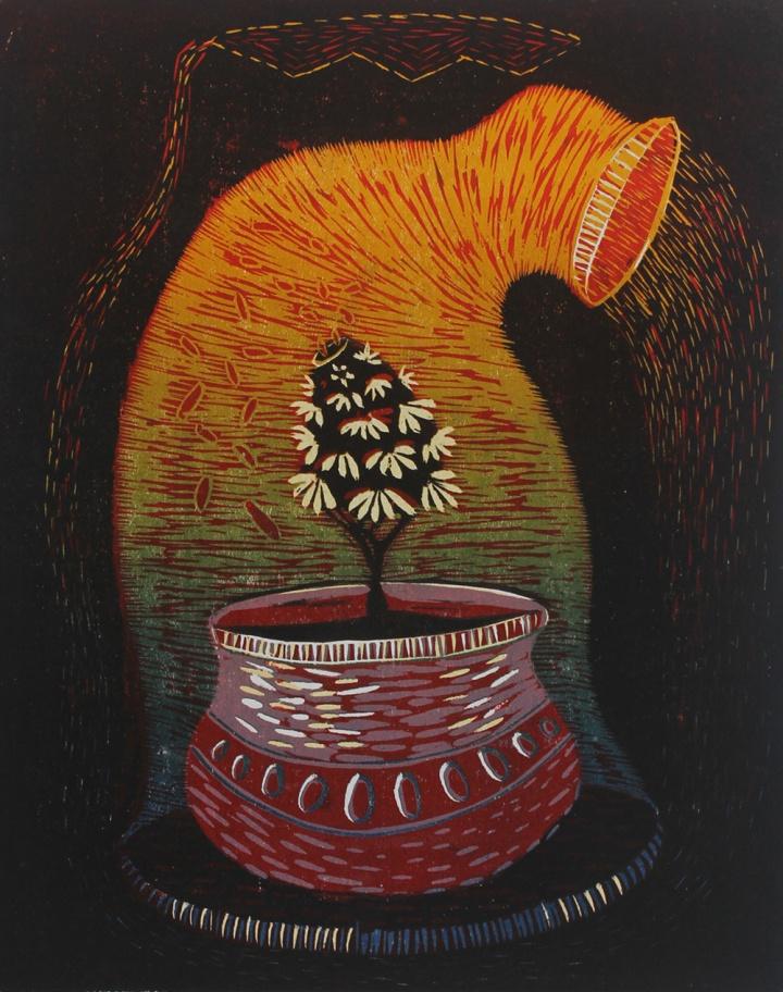 Ashish Deshmukh Woodcut 7