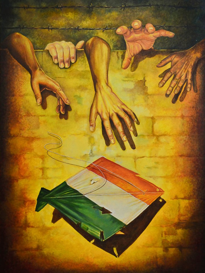 Balwinder Tanwar Recoil Acrylic on Canvas 36 x 48 Inches