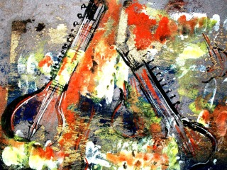 Jasbeer Kaur Harmony-I Mix-Media on Paper 10x12 Inches 2010 Rs. 12,000