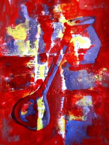 Jasbeer Kaur Music-I Acrylic on Paper 14x12 Inches 2013 Rs. 13,000