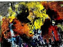 Jasbeer Kaur Rhythm-I Acrylic on Paper 10x12 Inches 2011 Rs. 22,000