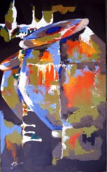 Jasbeer Kaur Sangeet Acrylic on Canvas 30x18 Inches 2013 Rs. 30,000
