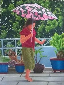 Aarti Sharma Bachpan-The Eternal Joy Oil on Canvas 25K