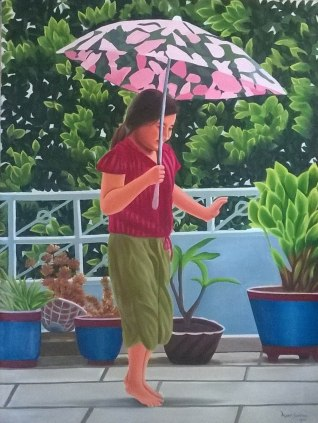Aarti Sharma Bachpan-The Eternal Joy Oil on Canvas 25K