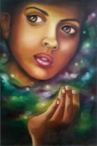 Anju Kulchania Hope Oil on Canvas 24x12 Inches 5K