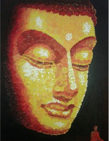 Ashok Mahakur Eternal Peace Acrylic on Canvas 50x40 Inches 60K