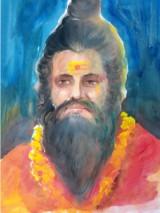 Bhushan Saini Sant Poster Color on Paper 30x24 Inches 15K