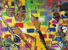 Ghazal Alagh Life in Pairs 1 Acrylic on canvas 36x48 Inches 2015 75K