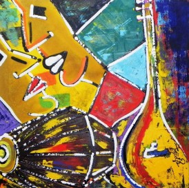 Ghazal Alagh Life in Pairs 10 Acrylic on Canvas 24x24 Inches 2015 40K