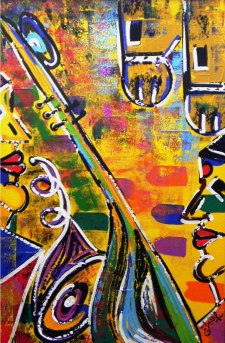 Ghazal Alagh Life in Pairs 3 Acrylic on canvas 36x24 Inches 2015 50K