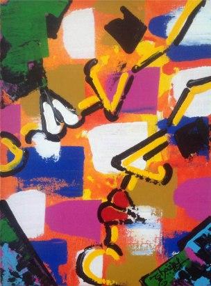 Ghazal Alagh Soulmates 1 Acrylic on Canvas 16x12 Inches 2015 25K