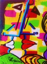 Ghazal Alagh Soulmates 3 Acrylic on Canvas 20x16 Inches 2015 35K