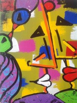 Ghazal Alagh Soulmates 4 Acrylic on Canvas 20x16 Inches 2015 35K
