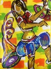 Ghazal Alagh Symphony in Devotion 2 Acrylic on Canvas 30x22 Inches 2015 35K