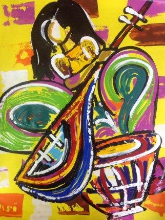 Ghazal Alagh Symphony in Devotion 3 Acrylic on Canvas 30x22 Inches 2015 35K