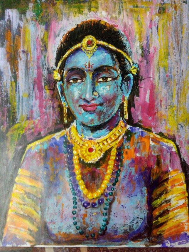 Girija Shankar Aadivasi Sondrya Acrylic on Paper 30x24 Inches 10K