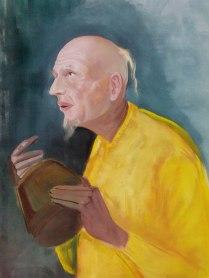 Girija Shankar Adhyatam Ki Or Poster Color on Handmade Paper 30x24 Inches 12K