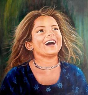 Girija Shankar Bachpan Oil on Canvas 18x15 Inches 12K