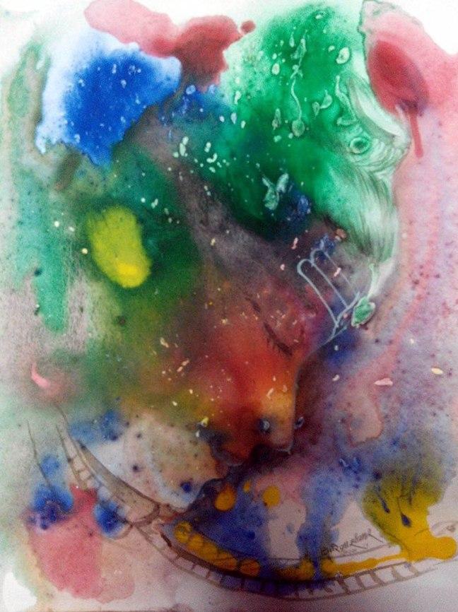 Girija Shanker Jatta se Behti Ganga Acrylic on Paper