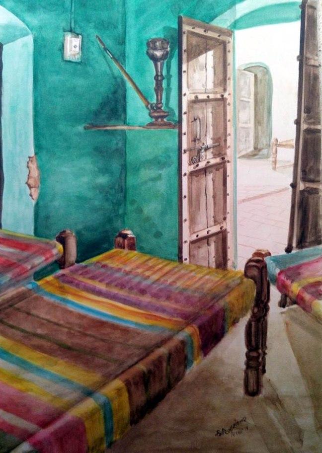 Girija Shanker Wo Khali Kamra Water Color on Paper