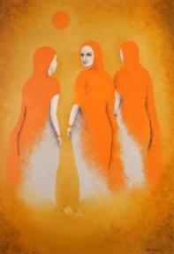 Kajal Nalwa Looking Back II Oil on Canvas 45x32 Inches 130K