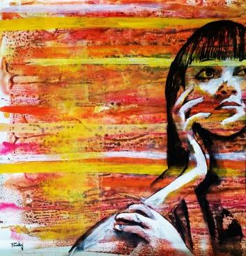 Pankaj Kumar Saxena Feelings Acrylic on Canvas 61x57 cms 15K