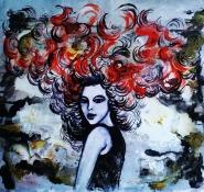 Pankaj Kumar Saxena Fervor-Dalliance-with-Snow Acrylic on Canvas 56x54 cms 15 K