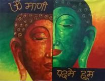 Paramjeet Kaur Pratibimb Oil on Canvas 21x28 Inches 7K