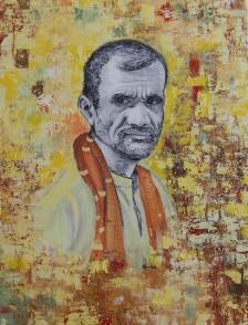 Radhika Surana Deshraj Varanasi Acrylic & Charcoal on Canvas 40x30 Inches 30K