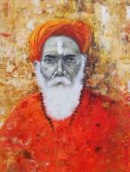 Radhika Surana Shivram, Varanasi Acrylic & Charcoal on Canvas 40x30 Inches 30K