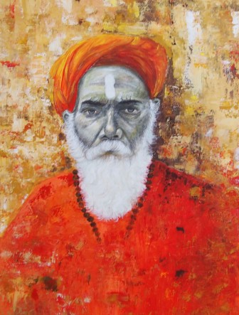 Radhika Surana Shivram, Varanasi Acrylic & Charcoal on Canvas 40x30 Inches 30K