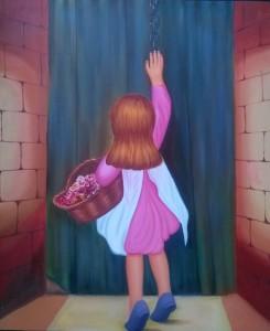 Santosh Kaalia Beti Oil on Canvas 40x30 Inches 15K