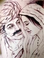 Shakti Singh Be my Valentine Acrylic on Canvas 22x16 Inches 20K